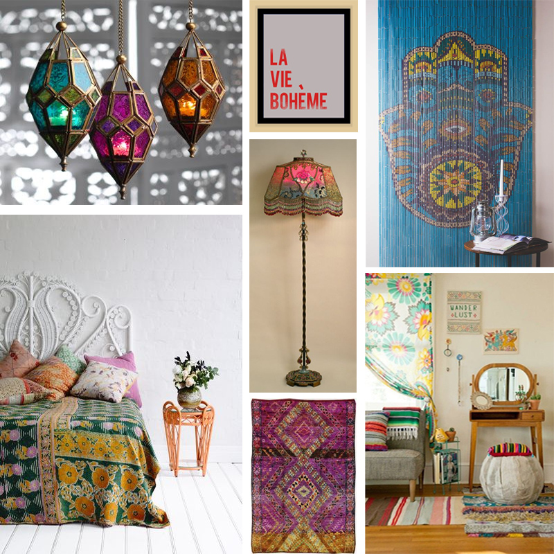 a boho mood board bohemian chic room decor epoch design