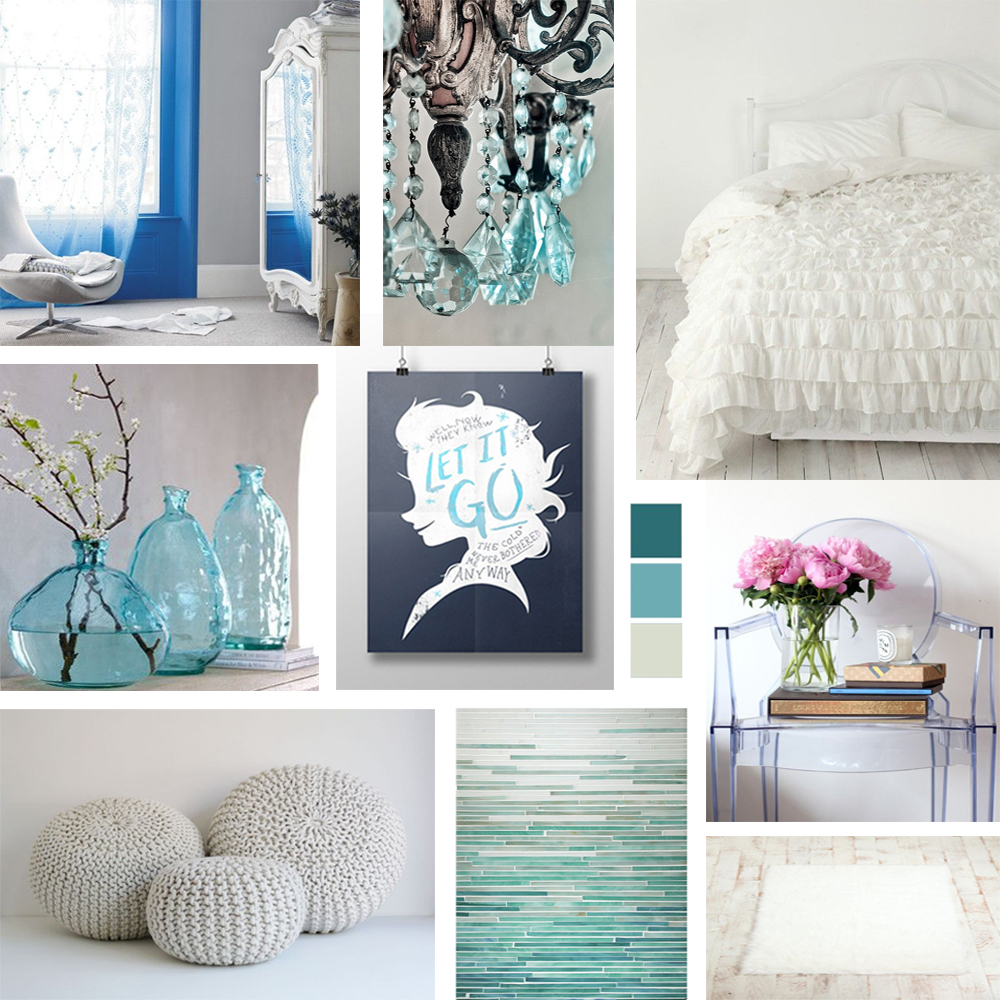 Disney's Frozen Bedroom Decor Mood Board