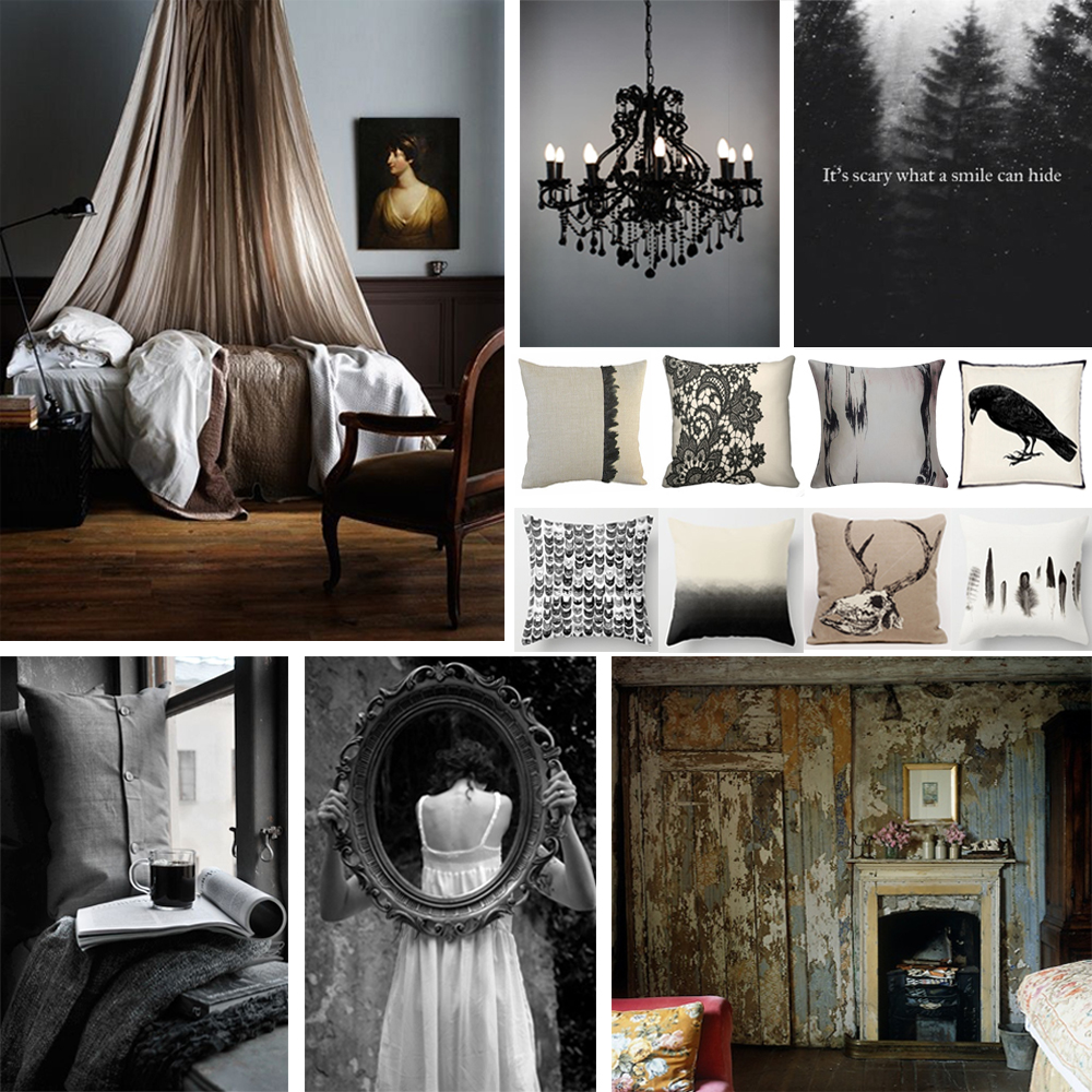 A Hauntingly Beautiful Mood Board Interior Design For