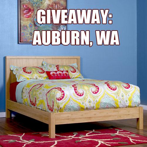 Giveaway niko full bed in auburn wa epoch design for Furniture auburn wa