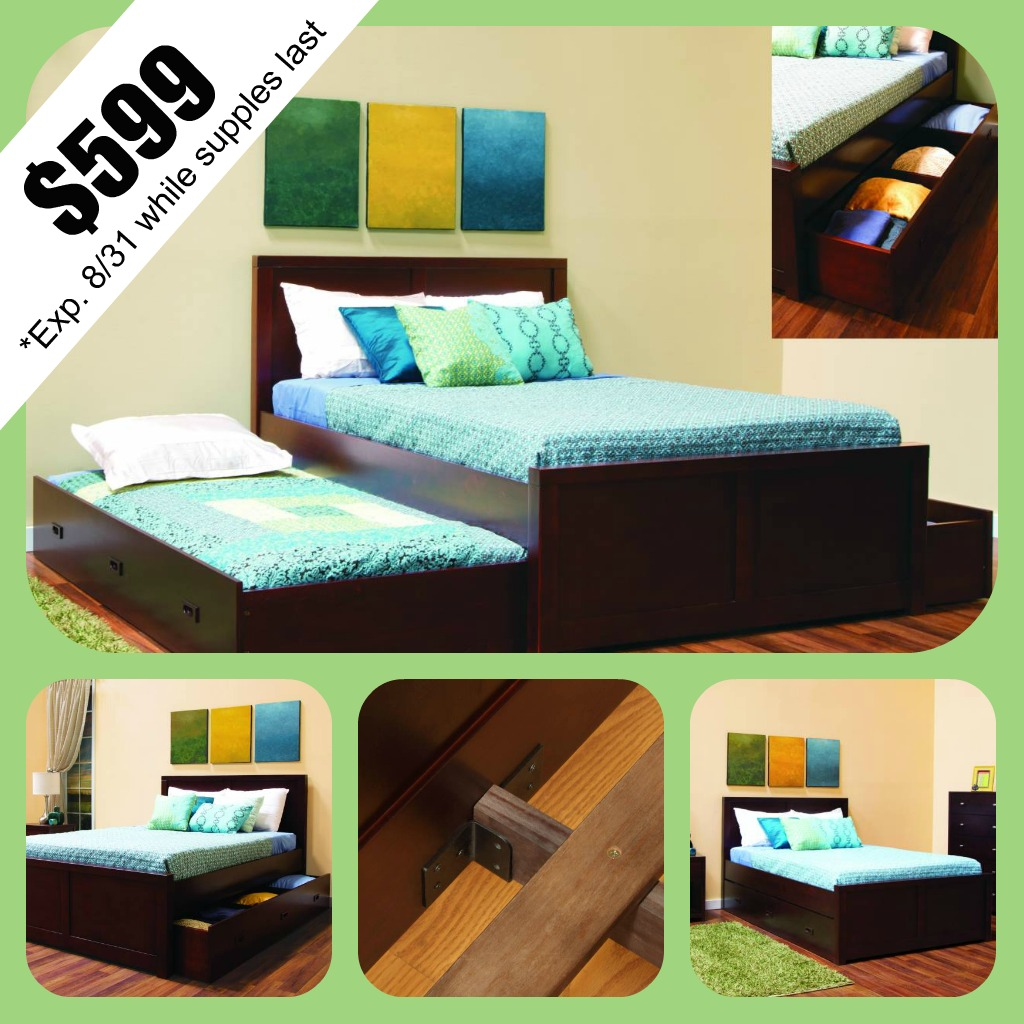 Back to School Sale! Peyton Storage Bed in Select Costco Stores
