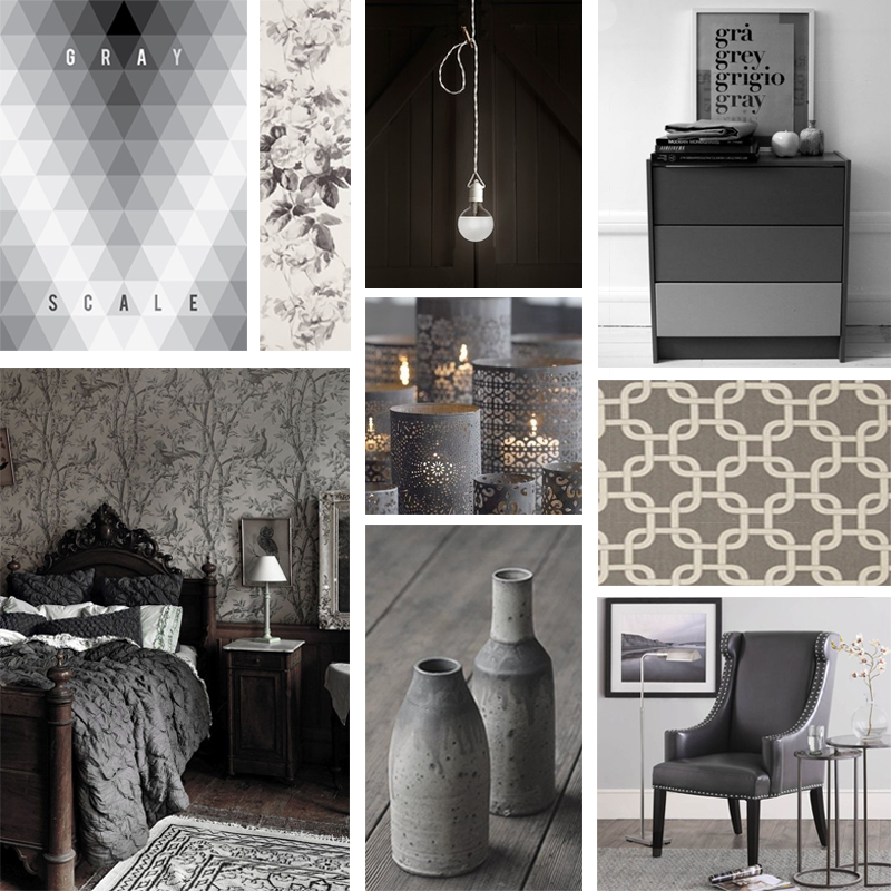 Gray Bedroom Mood : Shades of grey mood board toned bedroom design