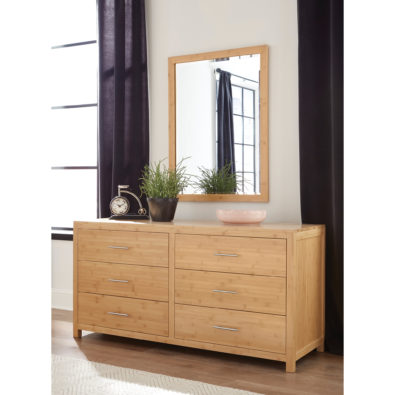 eco-friendly and environmentally sustainable solid wood bamboo dresser