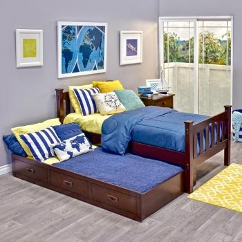 Trundle Bed.Cameron Hardwood Trundle Bed