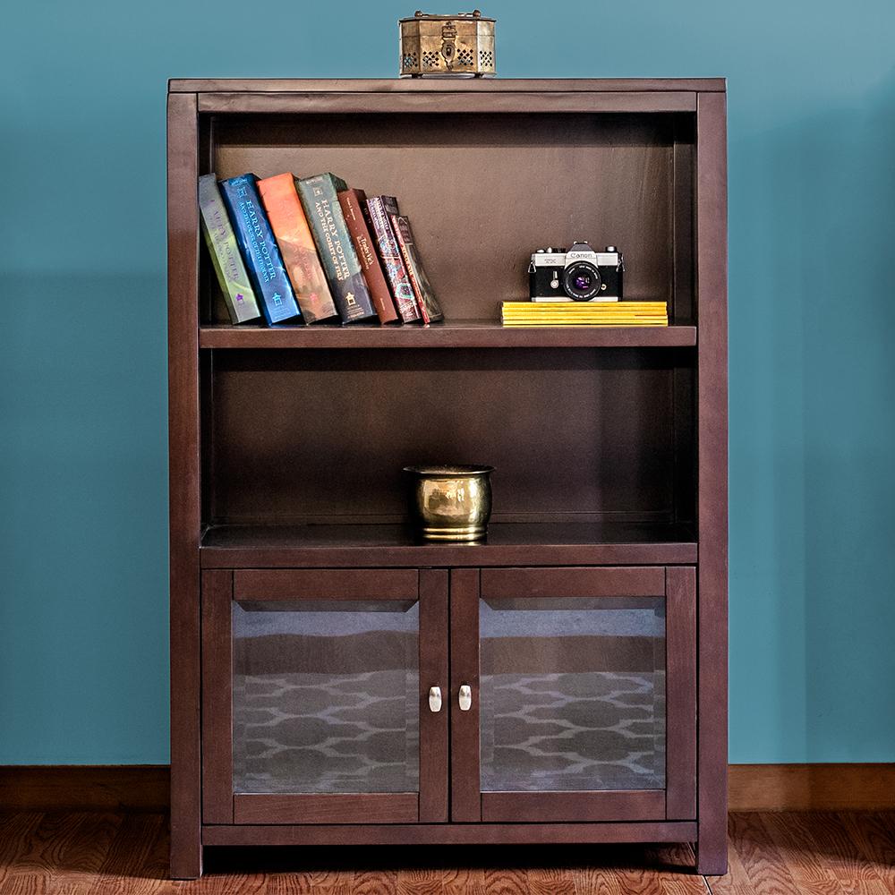 Pacifica 47 Bookshelf With Glass Doors