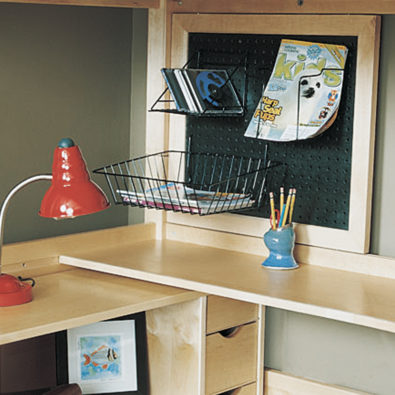 Sliding Peg Board with Wire Racks