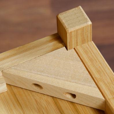 Nara Bamboo 7-Drawer Chiffonier Dresser Corner Block