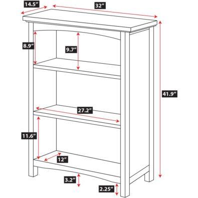 Astoria Hardwood Bookcase Spec