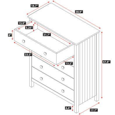 Dakota 5-Drawer Dresser Spec