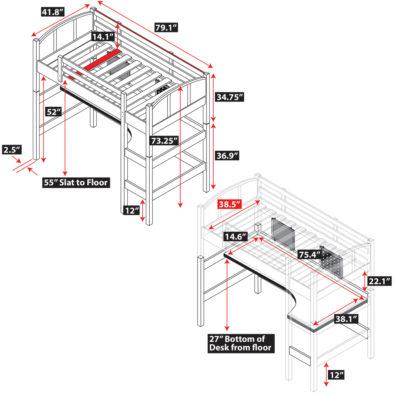 Radia Twin Loft Bed