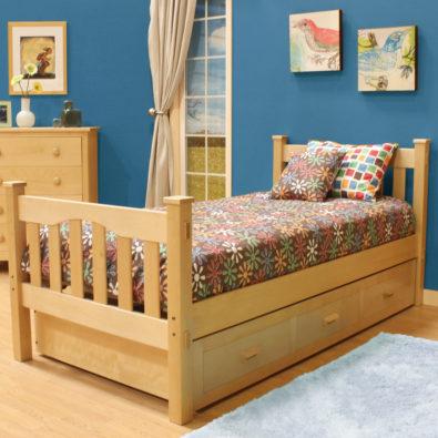 Gabriel Hardwood Trundle Bed