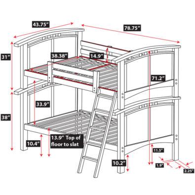 Astoria Hardwood Bunk Bed Spec