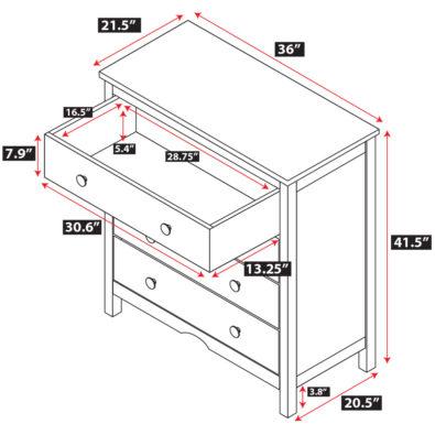 Tyler 4 Drawer Dresser Spec