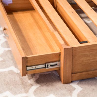 Natural Dog Storage Bed Drawer Glides
