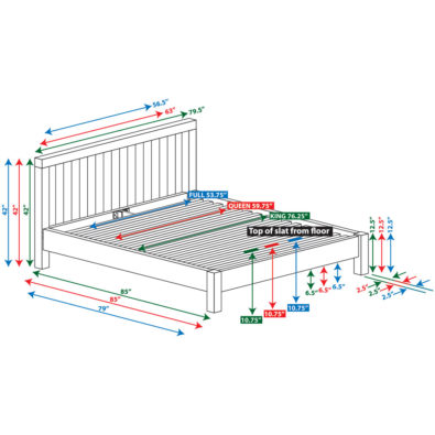 Niko Bamboo Platform Bed Spec