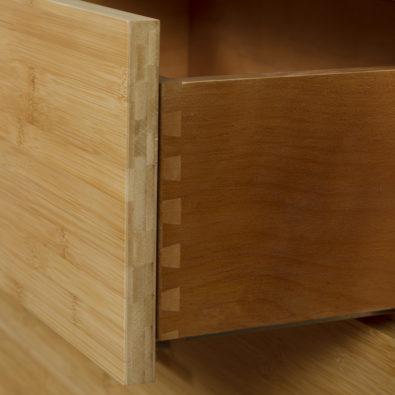 Niko Bamboo 4-Drawer Dresser Drawer