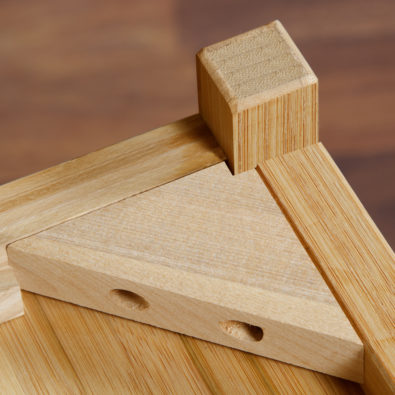 Niko Bamboo 4-Drawer Dresser Corner Block