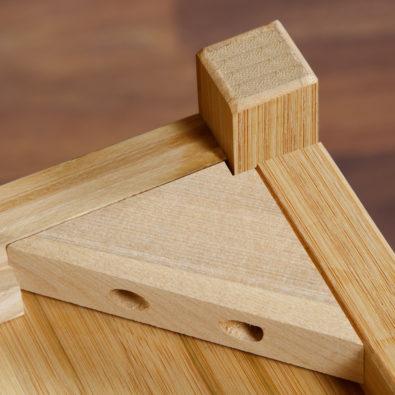 Niko Bamboo Nightstand Corner Block