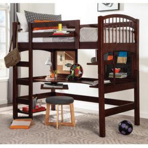 Mckenzie Hardwood Study Loft Bed