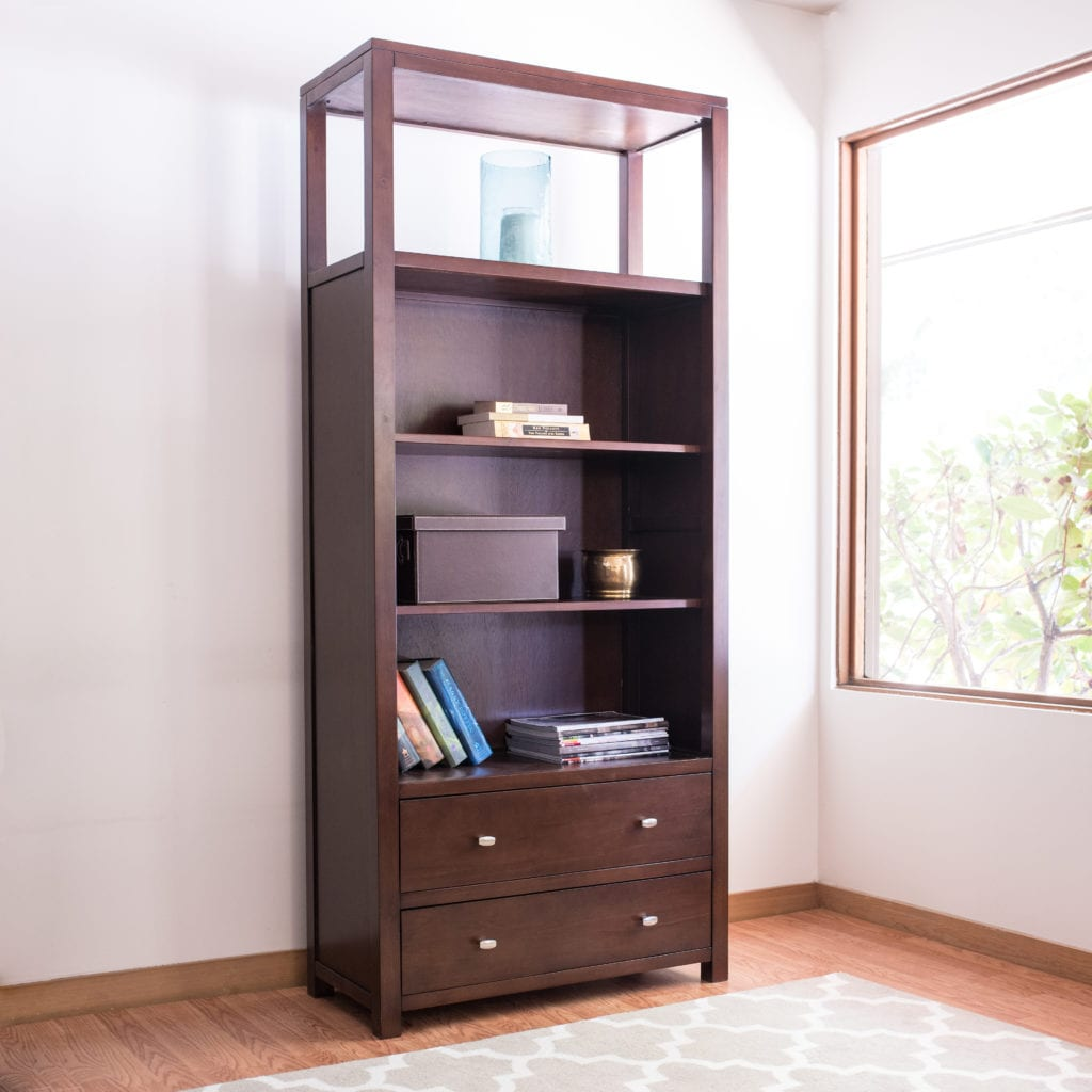 Pacifica 76 Quot Bookshelf With 2 Drawers Epoch Design
