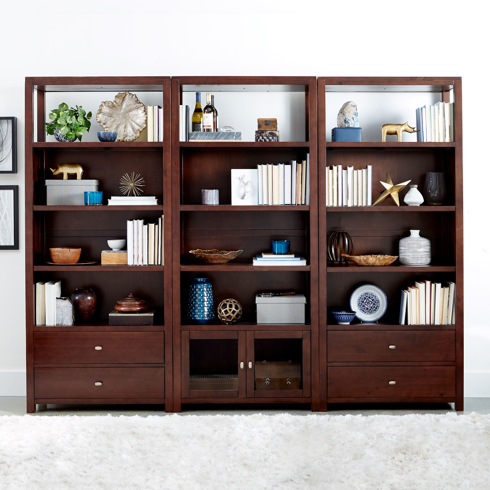 3 Piece 76 Bookshelf Set