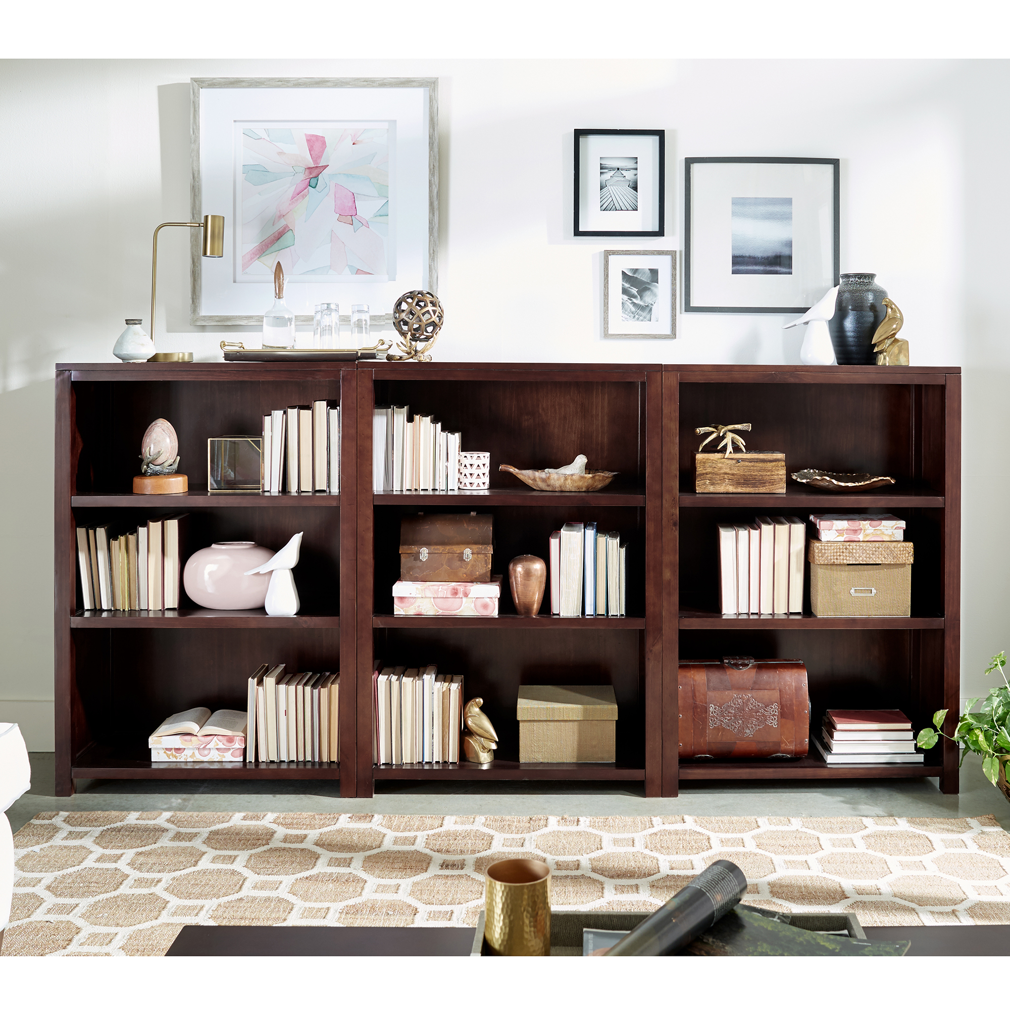 3 Piece 47 Bookshelf Set