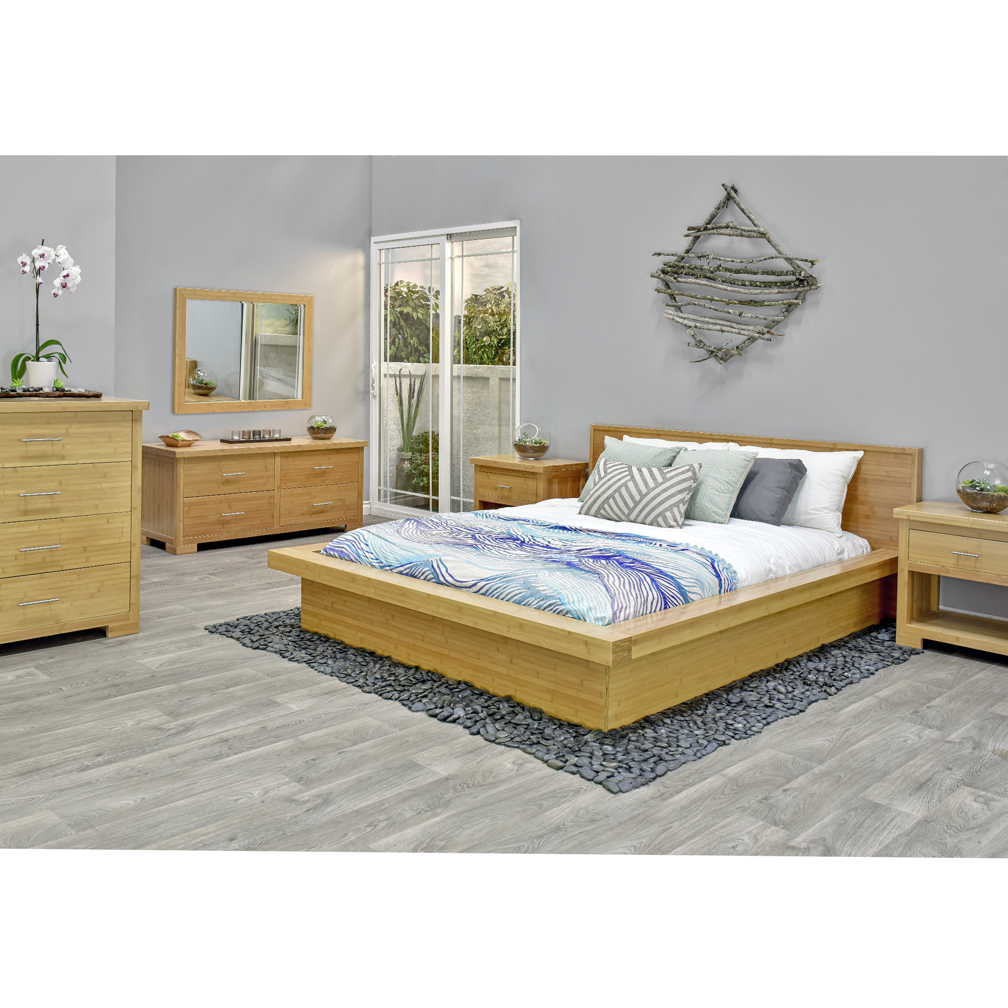 6 Piece Nara Bamboo Bedroom Set