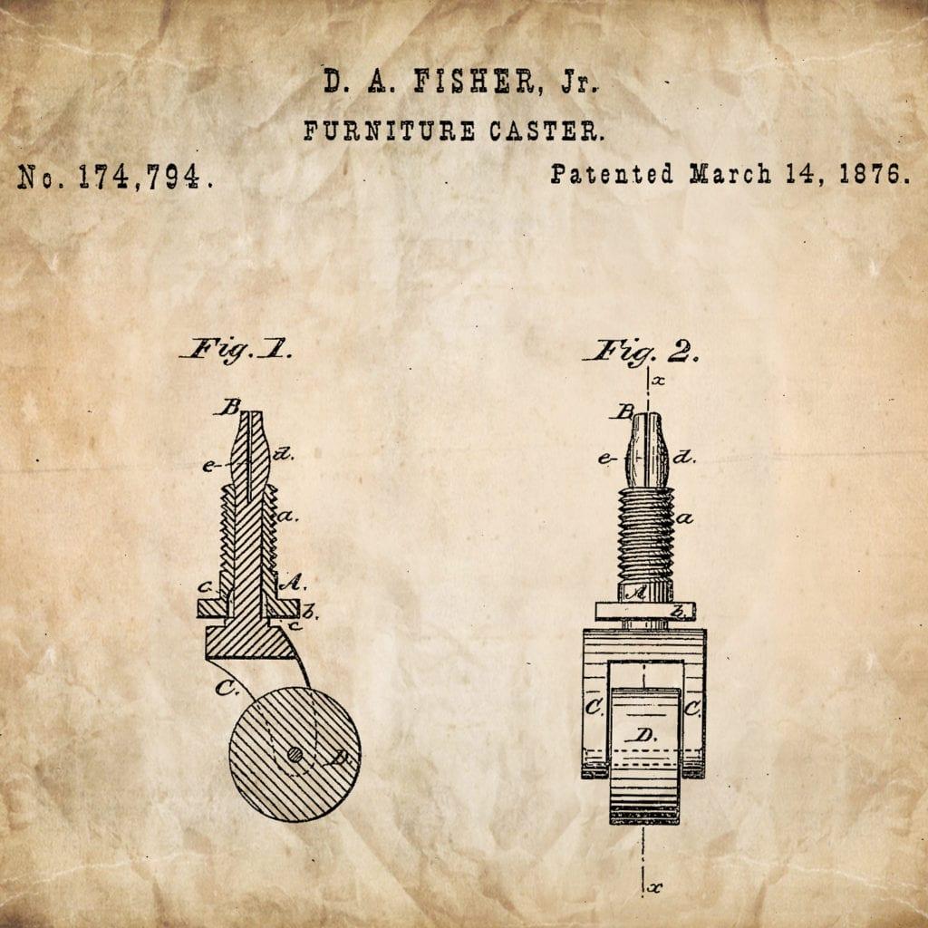 Historic black inventor David Fisher's 1876 patent